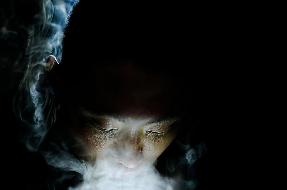 """Ross Gronvold, """"Smoke"""". Summer 2014 Artist in Residence."""