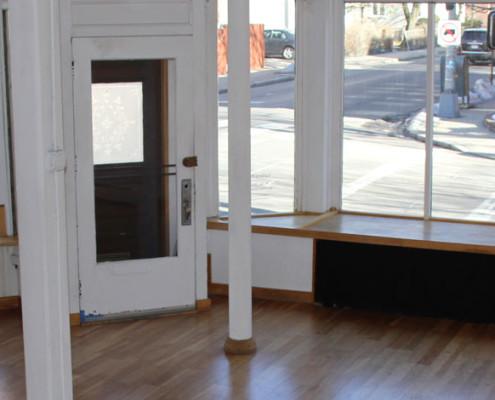 Gallery 263 interior, front windows