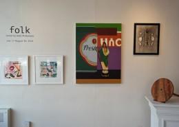 folk, Summer Juried Exhibition, 2014, installation shot