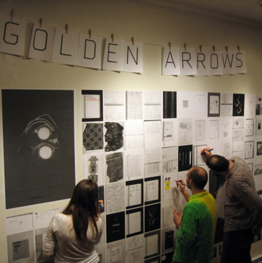 Golden Arrows residency, Winter 2010-2011, coloring book wall