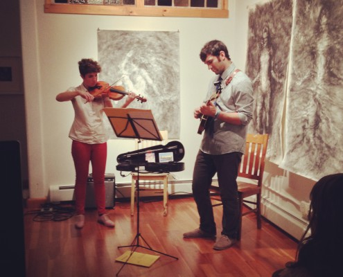 Abby Swidler and Jacob Means, violin and mandolin