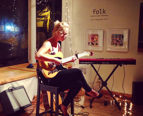 Paige Chaplin, guitar and voice