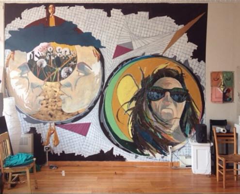 Mural from Summer 2014 residency, Solei