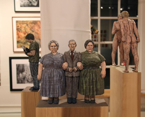 "C.A. Stigliano, ""Nonna, Nonno, and Rose"", Wood Juried Exhibition"