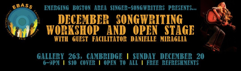 EBASS Songwriters Workshop and Open Stage_DEC