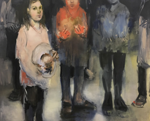 Angela Rose Voulgarelis, Three Girls, Gallery263, M/othering
